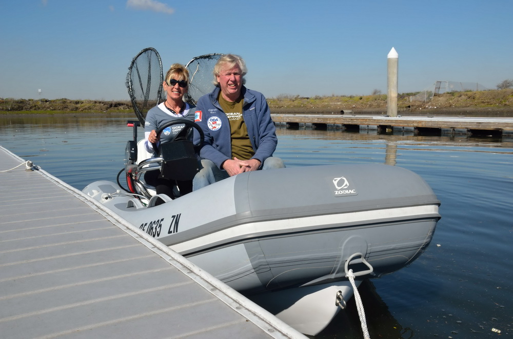Darlene and Kurt Lieber heading out for a harbor patrol