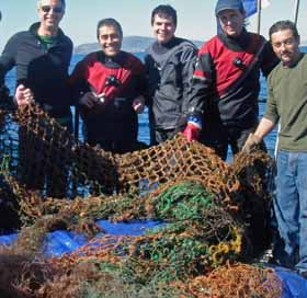 Team on bow with the day's catch