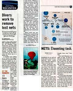 Orange County Register Online article about Ocean Defenders Alliance ODA - The Wave article front page