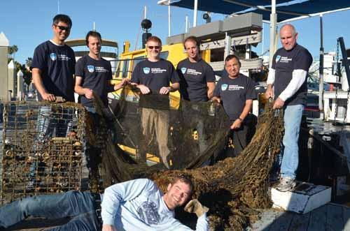 Dive & Boat Crew with marine debris hauled out and safely at dock