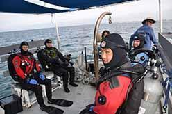ODA Dive crew is suited up and prepared to go