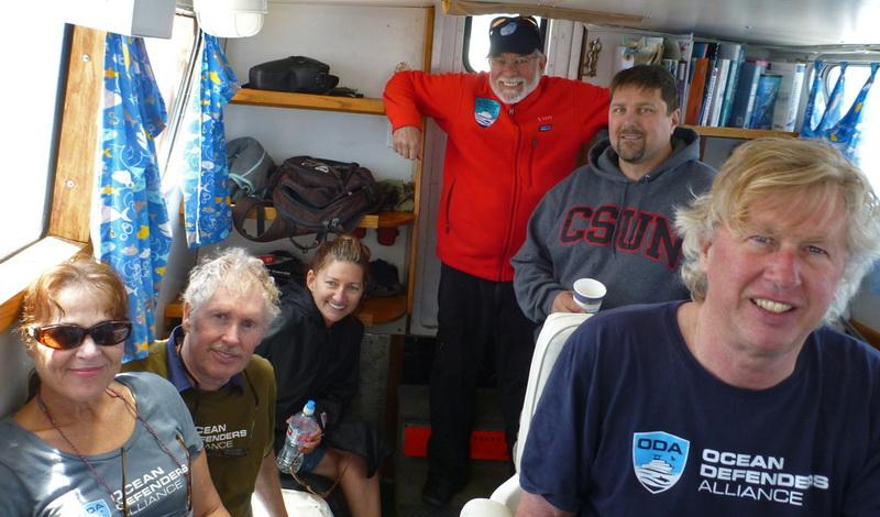 Happy ODA Dive & Boat Crew heading back to port with a good haul of ghost fishing gear!