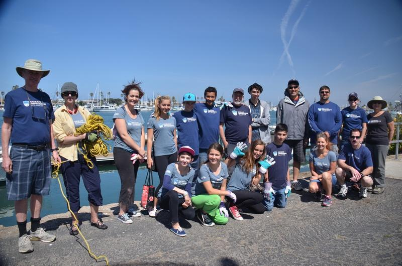 ODA Volunteer Cleanup Crew at Channel Islands Harbor, Ventura, CA