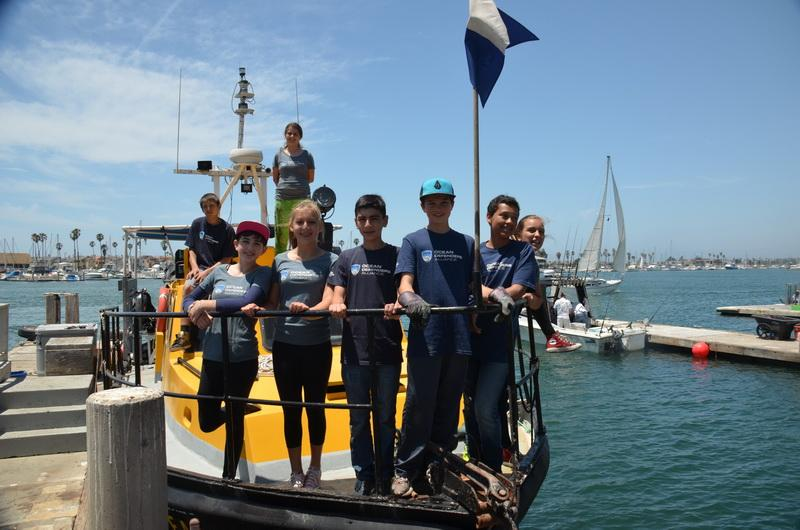 Ocean Defenders volunteer kids on the conservation vessel <em>Clearwater</em>