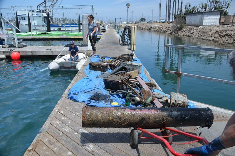 Ocean debris that was hauled out of the harbor by Ocean Defenders