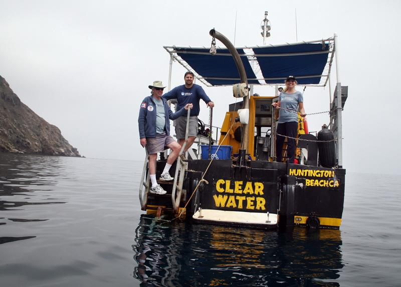 Ocean Defenders on the stern of the ocean conservation vessel <em>Clearwater</em>