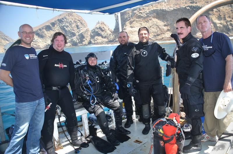 ODA Volunteer Crew - divers are suited up and ready to clean the ocean