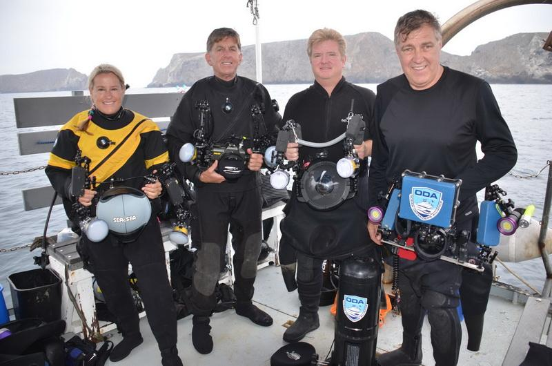 Ocean Defenders Dive Crew on deck with cameras ready to go