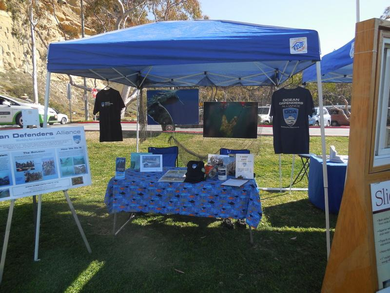 Ocean Defenders Alliance education and outreach table at the Dana Point Whale Festival