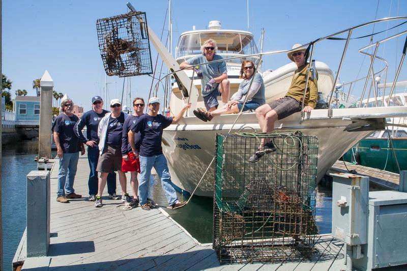 "ODA Dive & Boat Crew with the ""day's catch"""