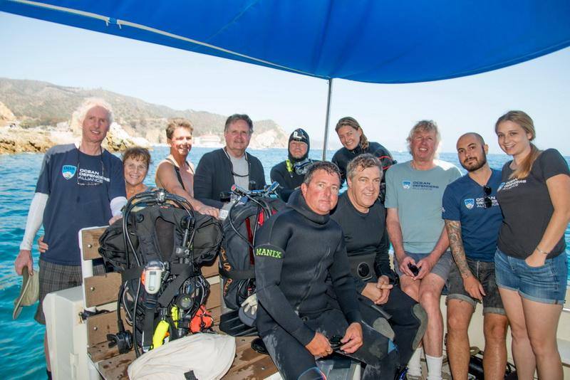 ODA Volunteer Dive & Boat Crew on board Bob Barker's LegaSea