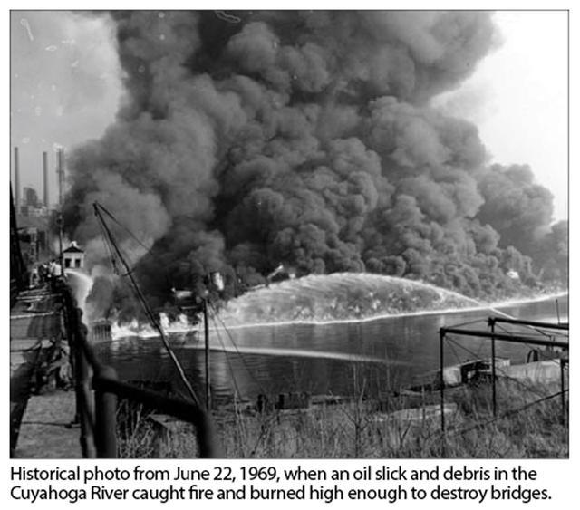 Cuyahoga River 1969 fire