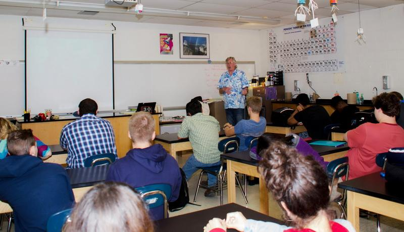 Captain Kurt Lieber educates youth about ocean debris