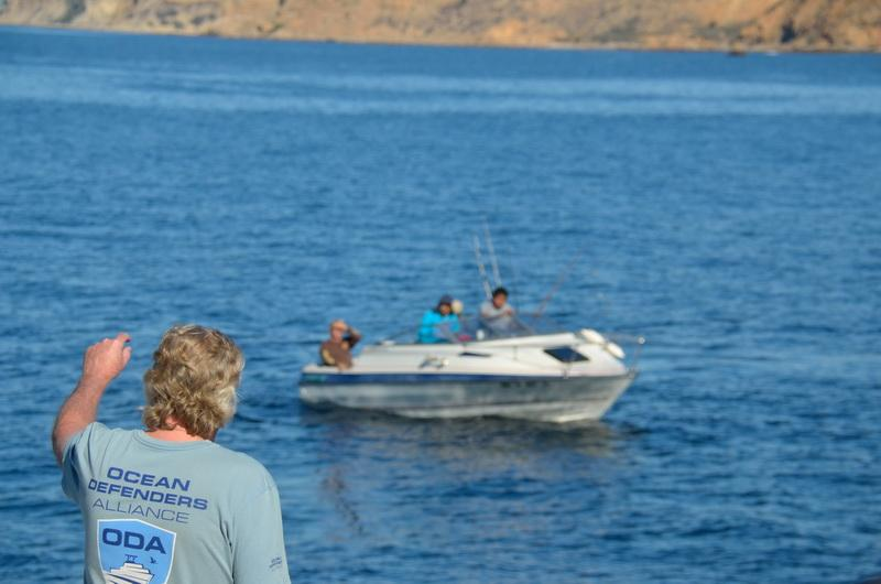 In an MPA, Captain Kurt advises boaters about illegal fishing