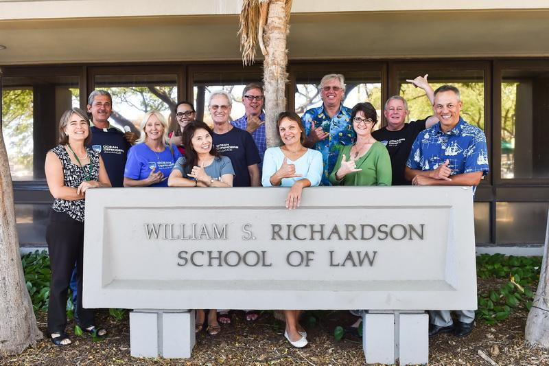 University of Hawai'i law school group with Ocean Defenders. On far left is Denise Antolini; Victoria Szymczak is in the middle with her hand on the sign. :)