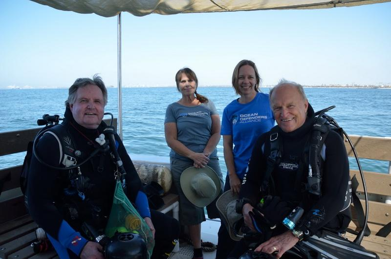 Ocean Defenders volunteer Dive Crew before debris removal dive