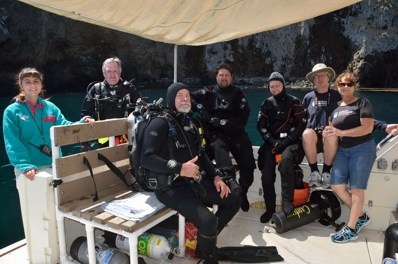 ODA Dive Crew ready to dive in and haul out ocean debris