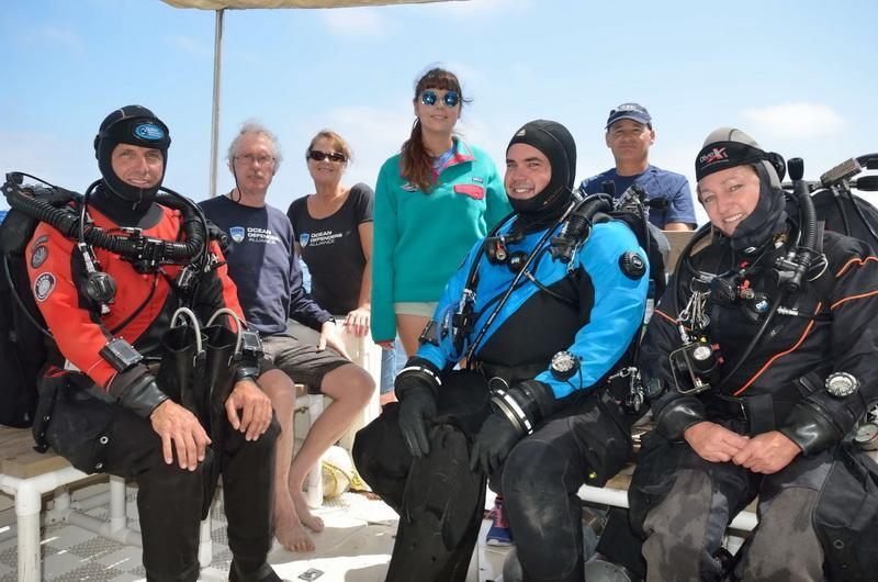 ODA Dive Crew before debris removal dive