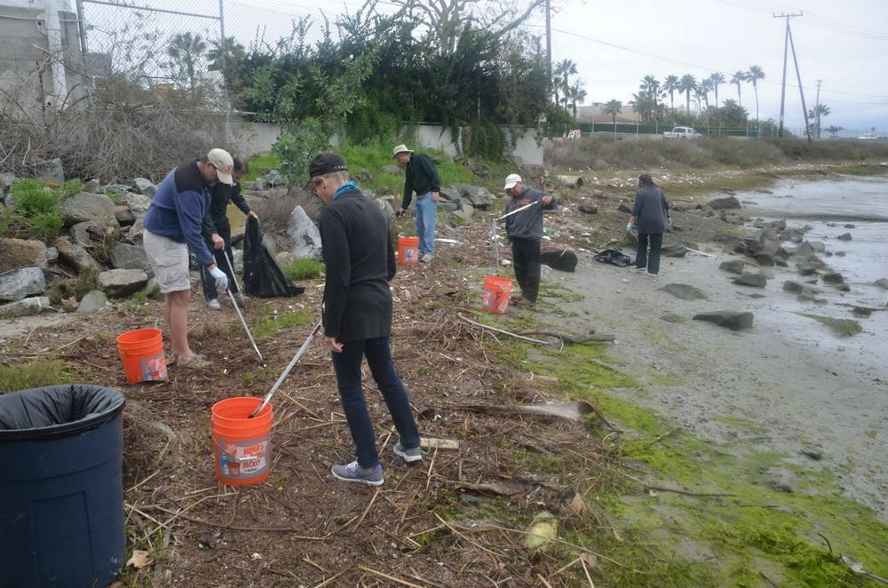 ODA Volunteers cleaning wetland