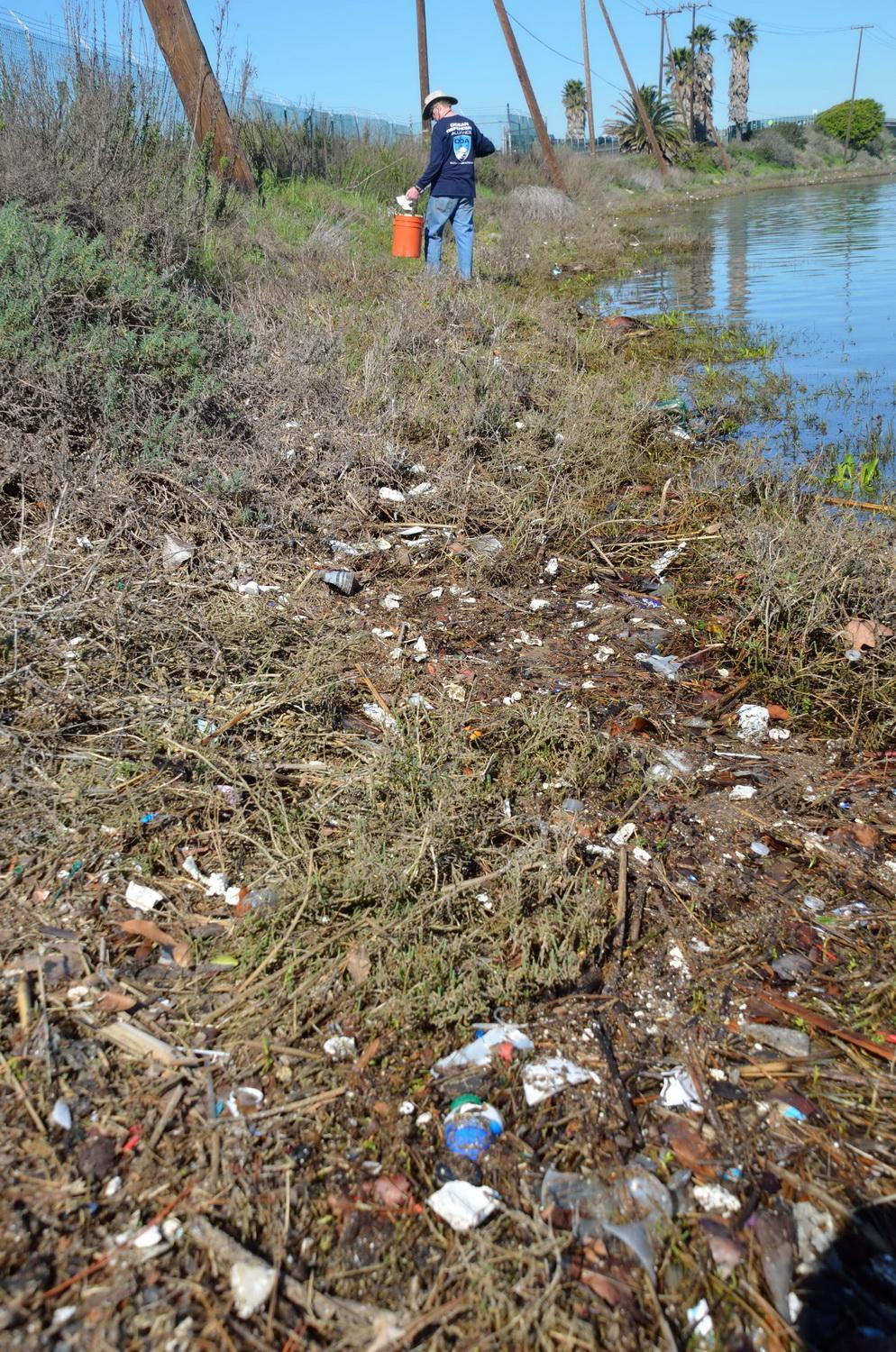Alamitos Trail of trash with Jim Lieber
