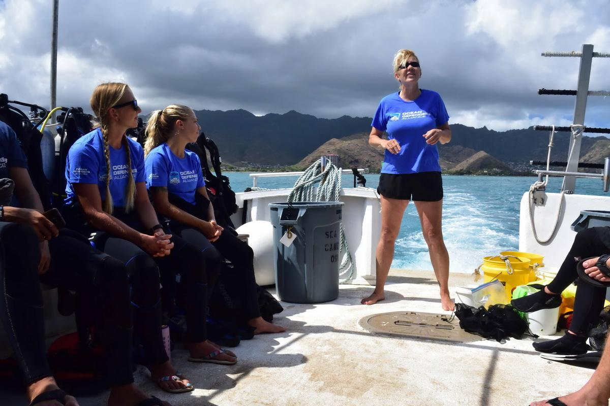 An excellent dive instructor Mary Christensen