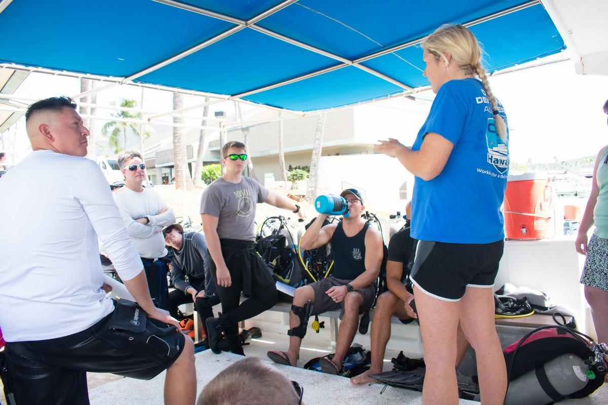 ODA Volunteer Divers get SCUBA briefing