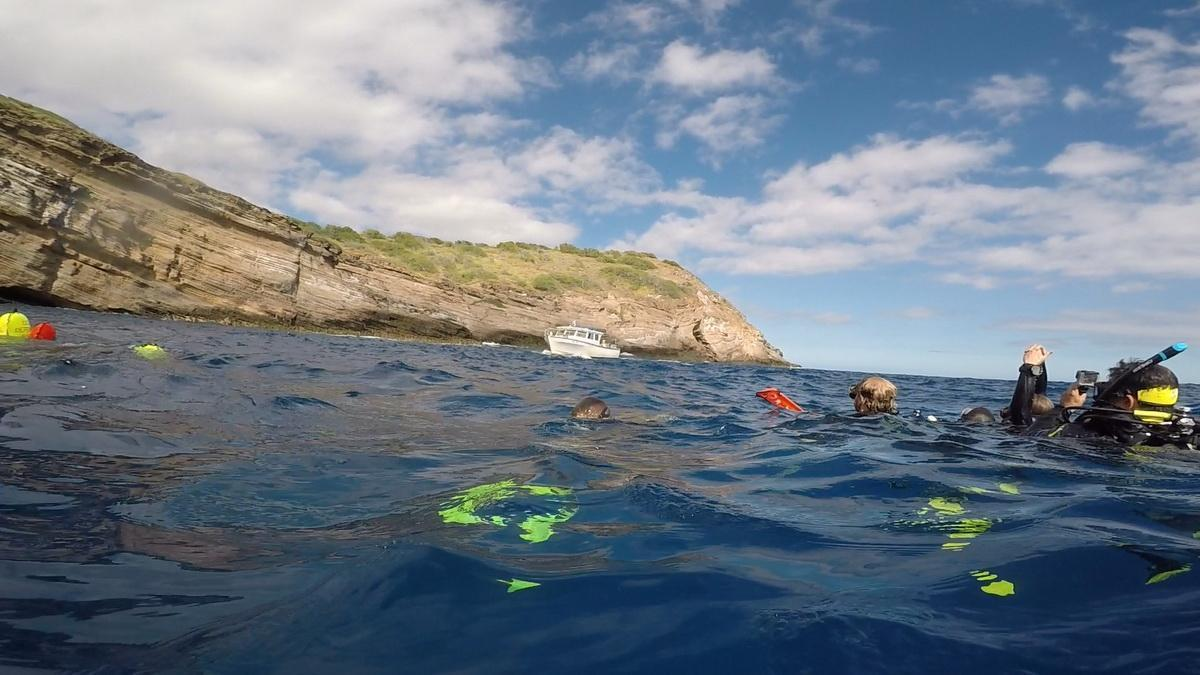 ODA divers pull debris to surface