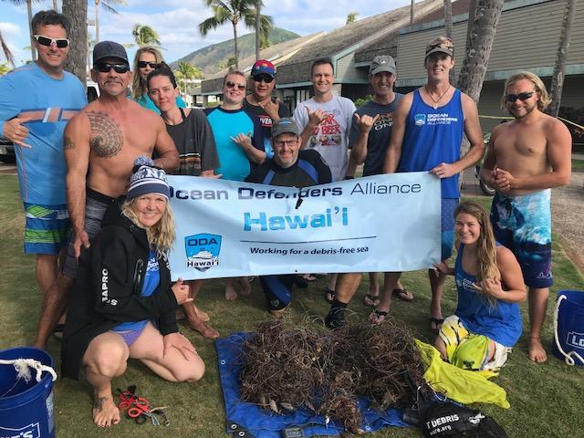 ODA Volunteer Dive and Boat Crew with marine debris they removed