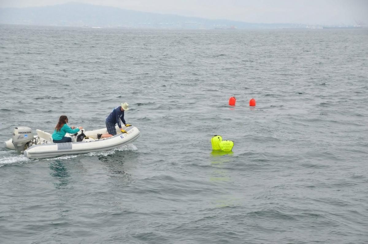 four lobster traps to be retrieved