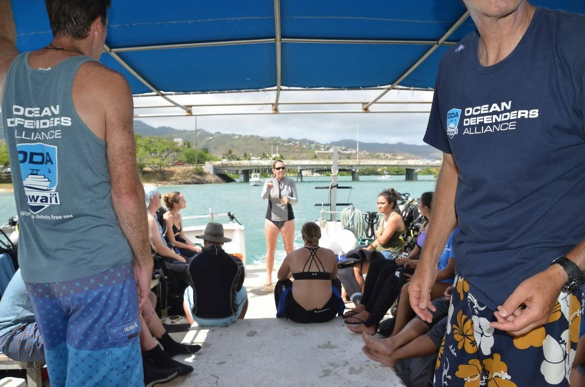 Mary giving briefing