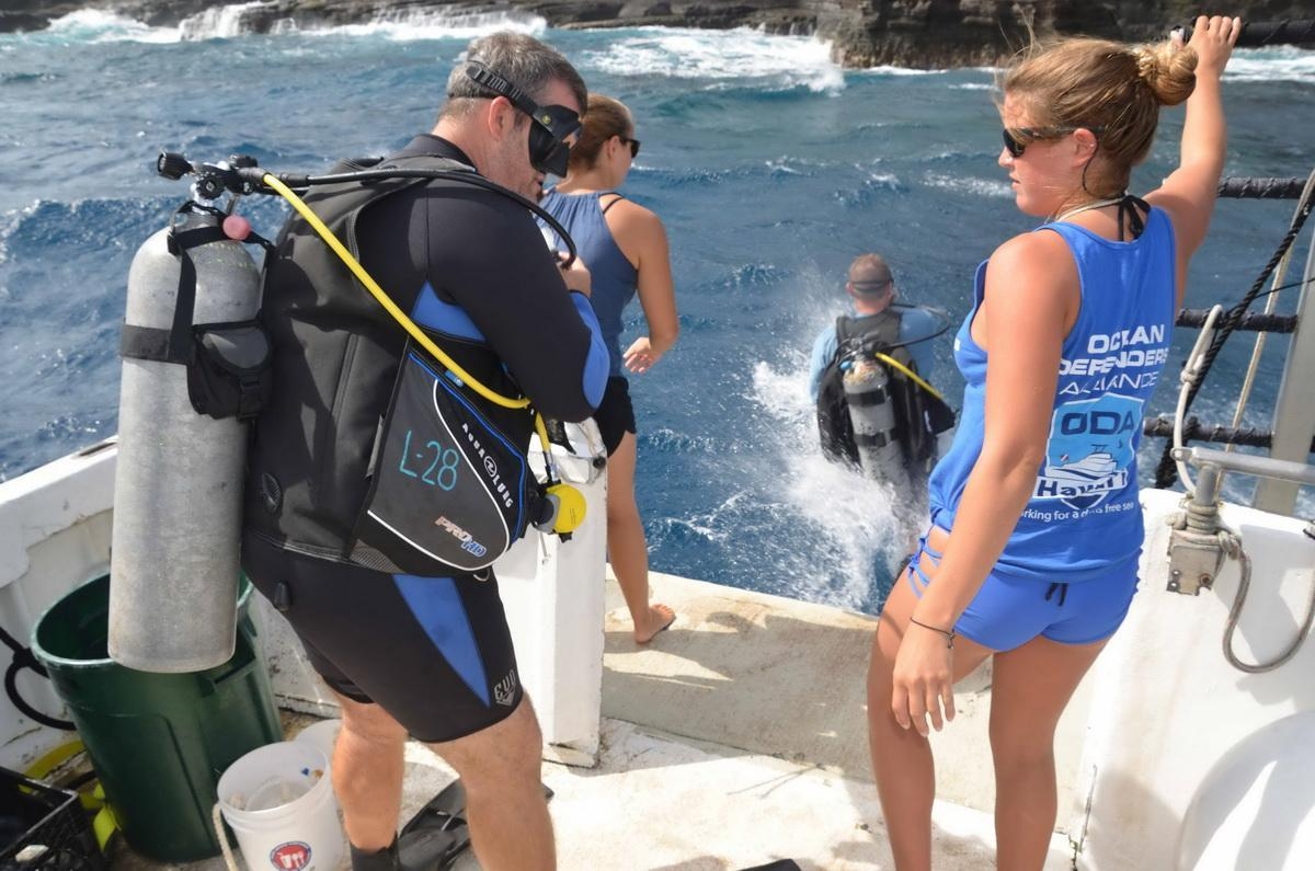 ODA SCUBA Divers splashing
