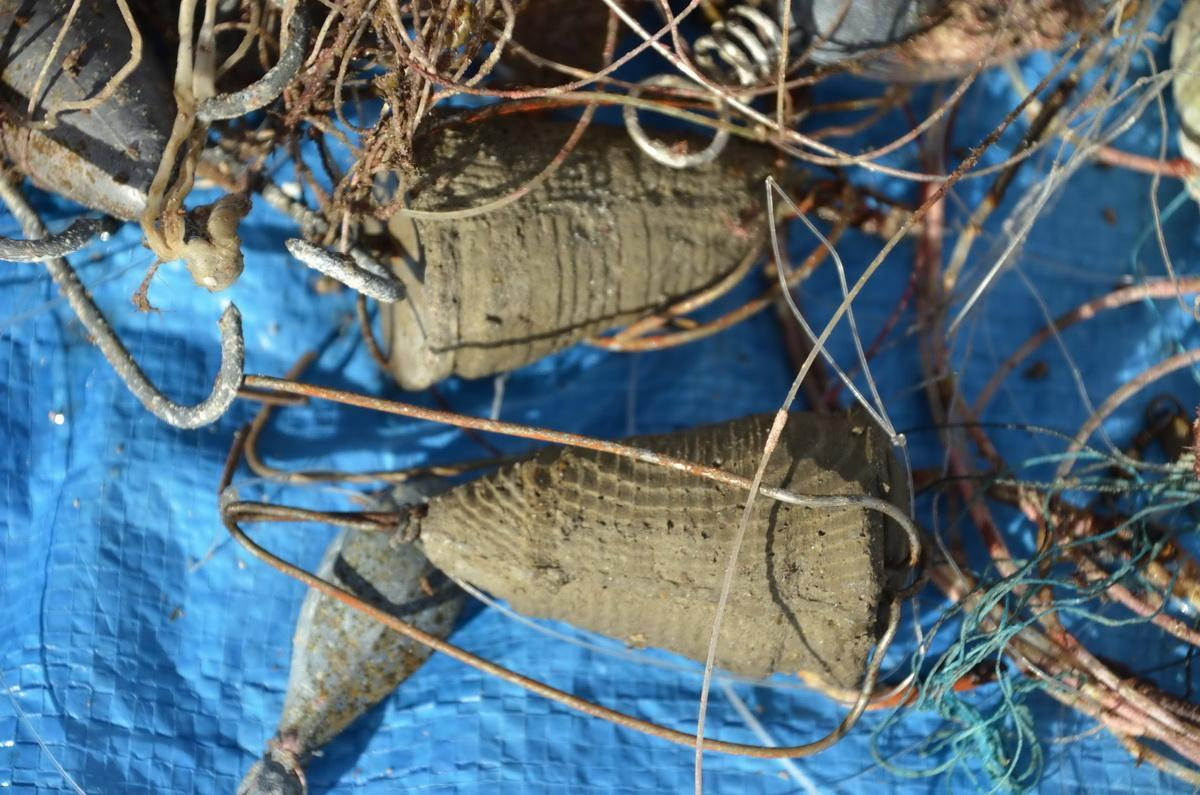 Ghost gear removed weighted lure