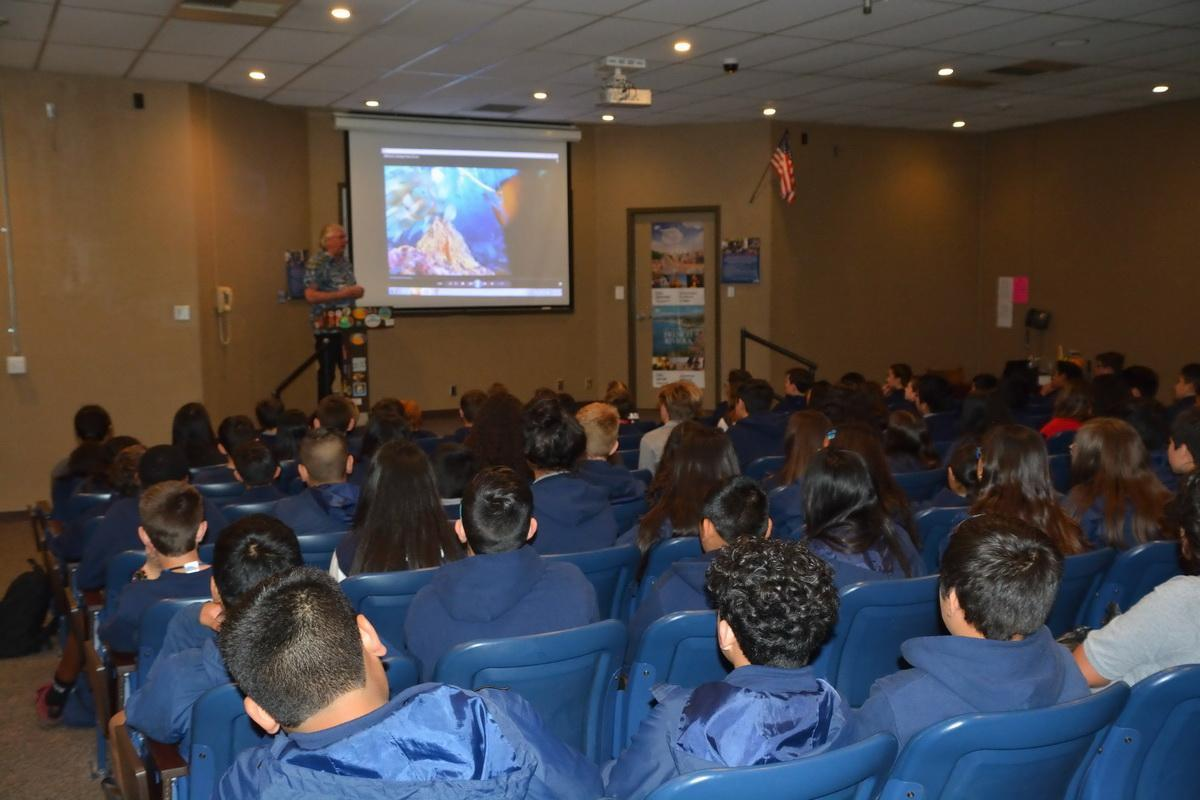 Students learn about oceans