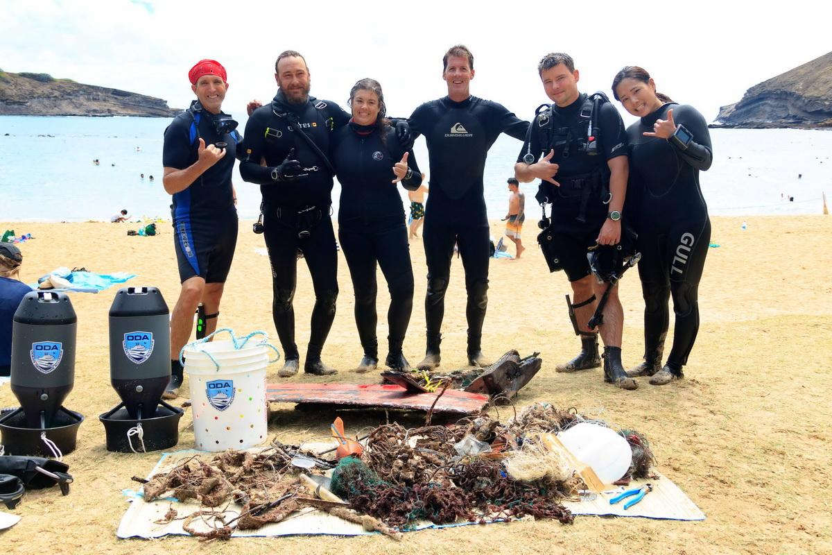 ODA Volunteer Divers w catch o the day