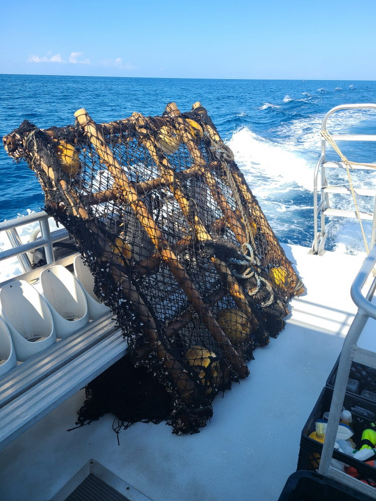 Illegal fishing gear removed